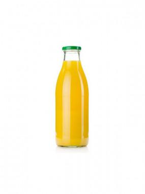 Jus d'orange pur jus bouteille verre 1l