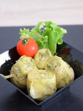 Salade cœur artichaut au pesto